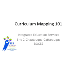 Curriculum Mapping 101 - Holland Central School District