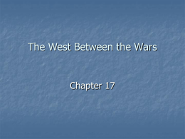 The West Between the Wars