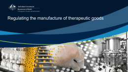 Regulating the manufacture of therapeutic goods (Microsoft