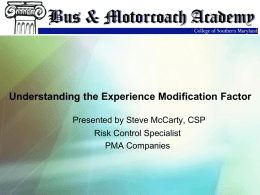Experience Modification Factor