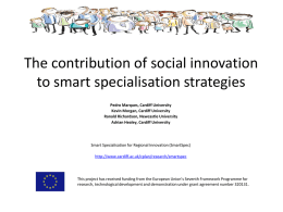 The contribution of social innovation to smart