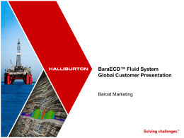 BaraECD Fluid System Customer Presentation
