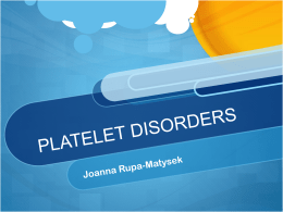 PLATELET DISORDERS
