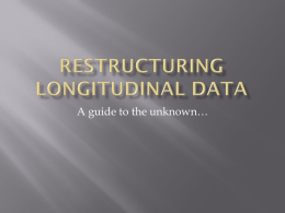 Restructuring longitudinal data