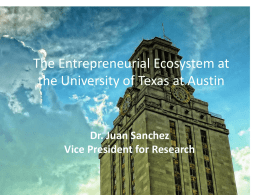 ways to finance research at The University of Texas at Austin