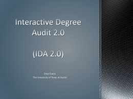 Interactive Degree Audit 2.0 (IDA 2.0)