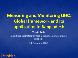 Measuring and Monitoring UHC - P4H – Social Health Protection