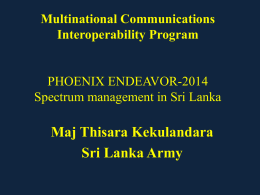 Spectrum in Sri Lanka - APAN Community SharePoint