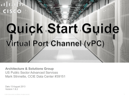 vPC - Cisco Communities