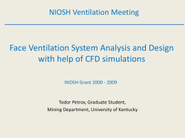 Face Ventilation CFD package