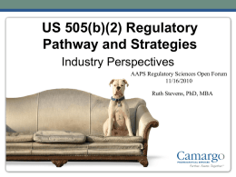 505(b)(2) - Camargo Pharmaceutical Services