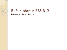 BI Publisher in EBS R12