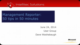 Management Reporter: 50 tips in 50 minutes