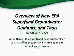 Draft Superfund Groundwater Remedy Completion Strategy - CLU-IN