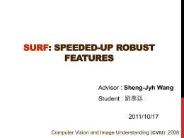 SURF: Speeded-Up Robust Features