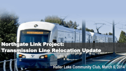 Transmission Line Relocation Update