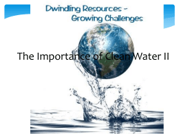 The Importance of Clean Water II