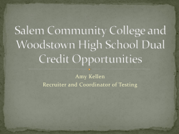 Salem Community College and Woodstown High School Dual