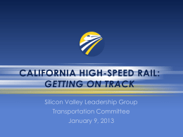 California high-speed rail - Silicon Valley Leadership Group