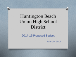 2014-15Bgt - Huntington Beach Union High School District