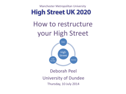 How to restructure your High Street