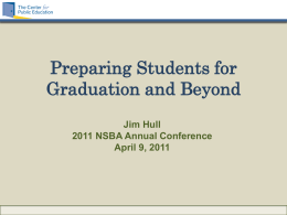 Preparing Students for Graduation and Beyond