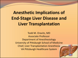 2014 Liver Disease and Anesthetic Implications before and after