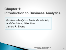 Data for Business Analytics