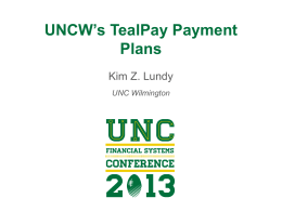 UNCW TealPay Payment Plans - University of North Carolina