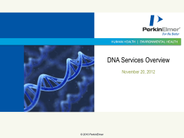 DNA Services Overview - Next Generation Sequencing