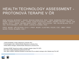 HTA report proton therapy - Prof. MUDr. Rostislav Vyzula, CSc.