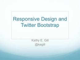 Twitter Bootstrap PPT