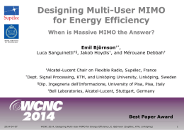 Designing Multi-User MIMO for Energy Efficiency