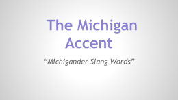 The Michigan Accent