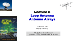 antenna array - Dr. Hussein M. Attia