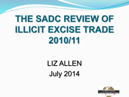 Conduct of SADC Review