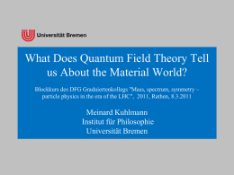 What Does Quantum Field Theory Tell us About the Material World?