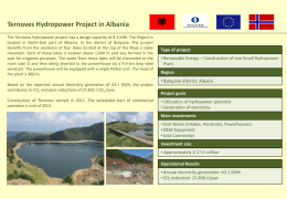 Ternoves Hydropower Project in Albania