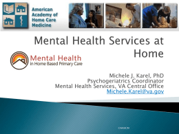 Mental Health Service - American Academy of Home Care Medicine