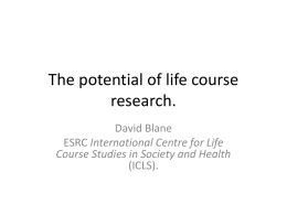 The potential of life course research.