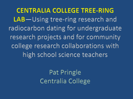 centralia college tree-ring lab*using tree