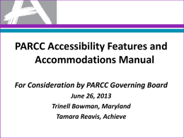 Accommodations PPT