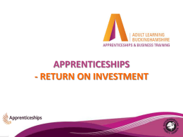 Apprenticeships with Bucks Adult Learning for EATV meeting Oct 2013