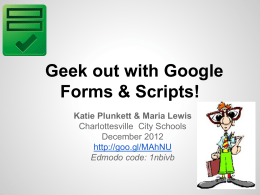 Google Forms Scripts