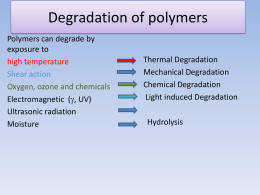 Thermal Degradation