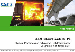 RILEM TC-227 report - International Workshop on Concrete Spalling