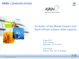Evolution of the Middle Eastern subsea cable capacity