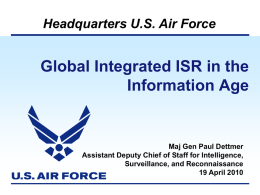 Global Integrated ISR