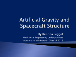 Artificial Gravity Presentation
