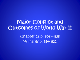 Major Conflict and Outcomes of World War II